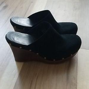 Ugg heels, suede